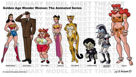 Golden Age Wonder Woman model sheet by SpawnofSprang