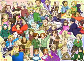 Hetalia many many country by sushi-country