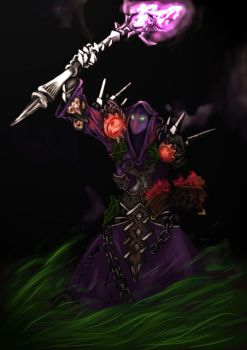 Undead Warlock by slinkyonion
