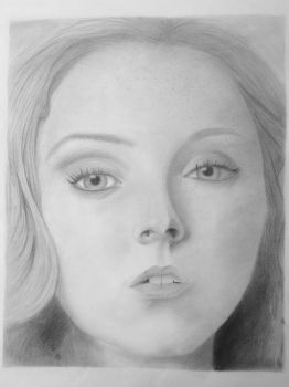 Lily Cole Portrait by hunnyflash