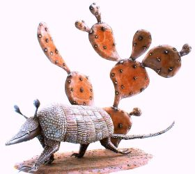 Armadillo and Cactus by livesteel