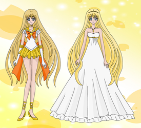 Crystal: Sailor Sun and Princess Solarity by MahouChikara