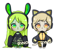 [60 Point] Cyber Kemonomimi Chibis - CLOSED by Ryno-Chalklut