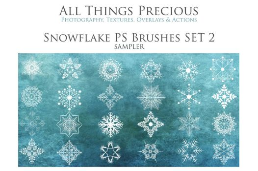 2. SNOWFLAKE BRUSHES SET 2 SAMPLER by All Things P by AllThingsPrecious