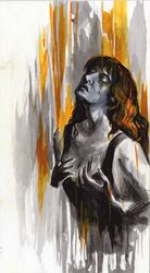 Florence Welch (Inktober 20 Squeeze) by Maybellez