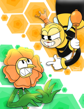 Cagney Carnation and Rumor Honeybottoms by IanZeep