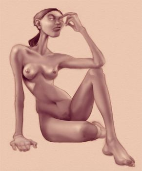 Drawing Jam Nude Toned by borogove13