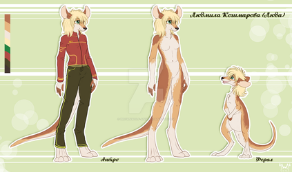 Kangaroo Ref Commission by BrownWolF-Ann