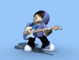 Hooded guy rocks out by tanka2d