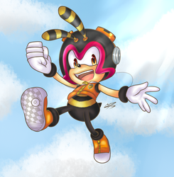 Sonic the Hedgehog Collab- Charmy Bee! by Chatacide