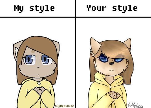 My style vs Your style by M-Meliaa