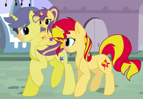 Sunset Shimmer and Comet Tail Family by ThunderSpeedYT