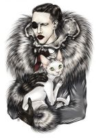 PORTRAIT WITH CAT by Zoe-Lacchei