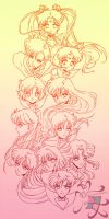 Sailor Scouts by gersimy