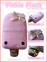 Pinkie Plush the lolly plushie by fuzzy-jellybeans