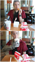 Ed Elric loves Chick-fil-a by rockinrobin