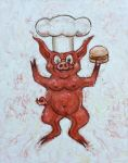 Pig Stand by paintpixelprint