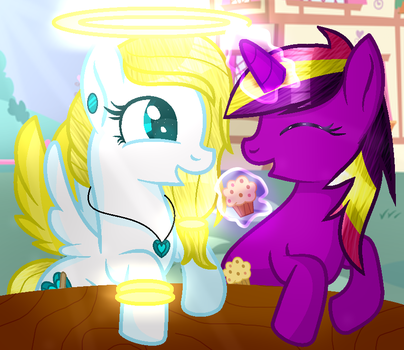 Muffin time [collab] by AngelLightYT