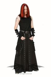 Skirt with studs - men fashion by azdaja