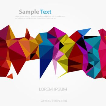 Colorful Polygonal Background Free Vector by 123freevectors