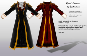 [MMD] Royal Longcoat (NEW TEXTURE) [DL] by Nintendraw