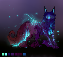 QuillDog Design: Night Paradise (Closed) by MischievousRaven
