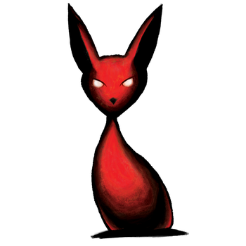 Spirit Bunny Red from DeathEd by BiteMeFox