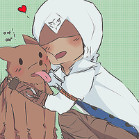 Connor and dog by Pineap