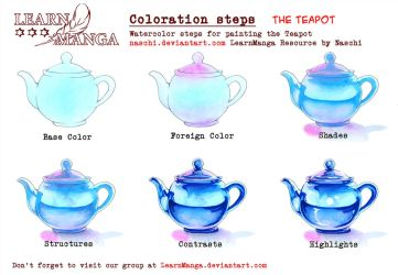 LearnManga Watercolorsteps Teapot by Naschi
