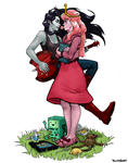 Princess Bubblegum and Marceline by TarikHavoc