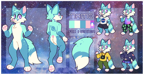 Space fox design and ref adopt (sold) by Ponacho