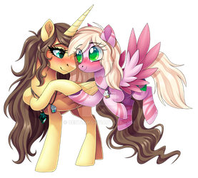 Rebecca and Hanalea by Centchi