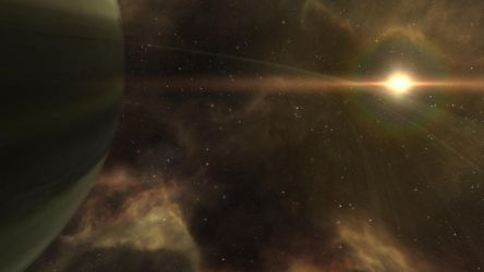 EVE Online Screenshot- The Rings of a Giant by Gilligan2011