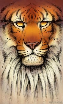 Tiger God IV - Color by synnabar
