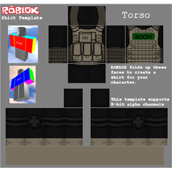 Roblox Military Shirt Template by Kaicreeper123