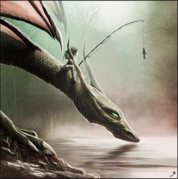 Fishing On The Drinking Dragon by AndyFairhurst