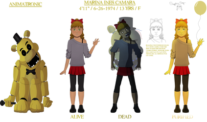 Shattered Dreams: Marina concept sheet by SapphireSky1992