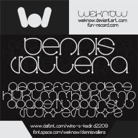 dennis vallera font by weknow by weknow