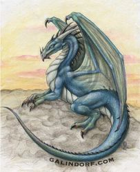 Dragon-Blue by Galindorf
