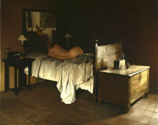 nude on bed by holyman