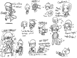 Silly Hetalia Fortress doodles by BluesKirby