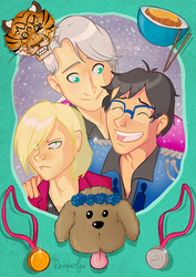 Yuri on Ice OT3 by reaperfox