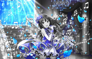 Monochrome Shiburin on Blue Stage by AlexArgentin
