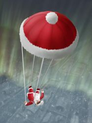 Skydiving Santa by hectigo
