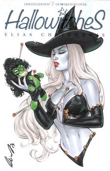 Lady Death with Evil Ernie voodoo doll by Elias-Chatzoudis