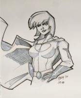 Sketch-a-day Power Girl by JOwte