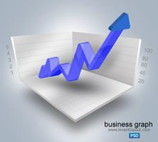 Business Graph PSD by atifarshad