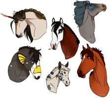 SA - Stallion Headshots by Cat-Orb