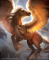 HEX TCG: Dawnsteed by Harpiya