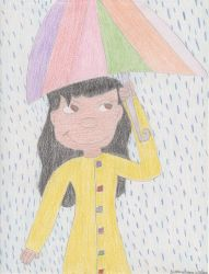 Lilo in the rain by DisneyPrincessNeeNee